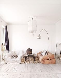 Marie Olsson Nylander's Cozy Swedish Home - LOVE the blend of new and old