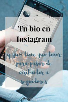[VIDEO] Como tiene que ser tu bio en #Instagram para pasar de visitantes a seguidores