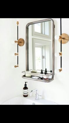 Details This Rectangular Metal Frame Pharmacy Mirror Has A