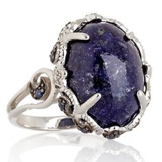 Opulent Opaques Lapis and Sapphire Sterling Silver Ring at HSN.com.