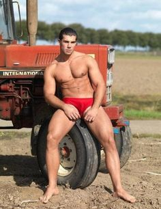 Agree, rather Men naked on a tractor