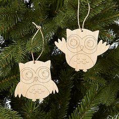 Buy John Lewis Wooden Owl Decoration, Assorted, Natural Online at johnlewis.com