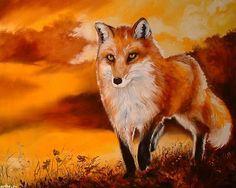 """""""Red Fox Sunset"""" par Marcia Baldwin"""