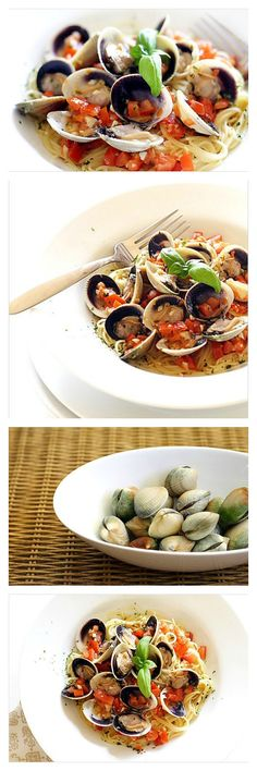 Cappelini with cockle clams in lemon butter sauce. AMAZING tasting just like your favorite Italian restaurant, and takes less than 30 minutes to make plus MUCH cheaper | rasamalaysia.com
