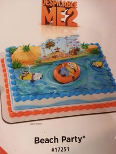 The Crazy Minions From Despicable Me 2 Are Sure To Make Any Birthday Or Beach Party A Fun Time Includes Cake Topper Featuring Minion Floating In Tube