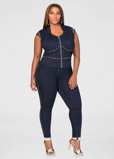094637c577f Gold Stud Skinny Jean Gold Stud Skinny Jean Plus Fashion