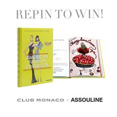 Repin to Win! Build your coffee table book collection with the American Fashion Cookbook by @ASSOULINE. Use hashtag #CMRepin - winner announced Tuesday at 12noon EST.