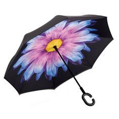 Vintage Pattern With Birds And Dahlia Flowers Double Layer Windproof UV Protection Reverse Umbrella With C-Shaped Handle Upside-Down Inverted Umbrella For Car Rain Outdoor
