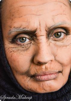 Old lady make up
