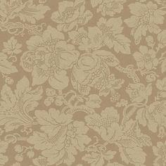 Brewster Wallpaper RW20107 Gold Floral Jacobean