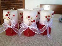 Resultado de imagem para velas decoradas