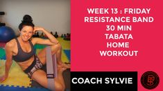 Week 13: FRIDAY - RESISTANCE BAND 30 min TABATA Total Body Home Workout🍑... Tabata, Total Body, At Home Workouts, Friday, Band, Youtube, Sash, Tabata Workouts, Home Workouts