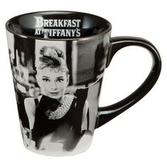 {Audrey Hepburn Mug} Breakfast at Tiffany's - makes a cuppa coffee a lil more glam ;)