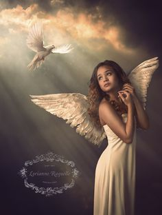Heaven Sent by Lorianne Raquelle - Photo 95975323 / Angel Images, Angel Pictures, Beautiful Angels Pictures, Angels Among Us, Angels And Demons, Angels In Heaven, Heaven Sent, Angel Artwork, Angel Wallpaper