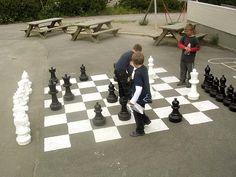Chess in the schoolground - Manglerud - Oslo