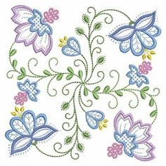 Vintage Jacobean Quilt 4, 5 - 3 Sizes! | What's New | Machine Embroidery Designs | SWAKembroidery.com Ace Points Embroidery