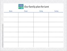 Make a family plan for Lent - Teaching Catholic Kids End Of Lent, Make A Plan, How To Make, Make A Calendar, Lenten Season, Catholic Kids, Make A Family, Write It Down, To Focus