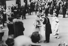 King George And Queen Mary | King George VI kises Queen Mary, 26 May 1939. | High quality art ...