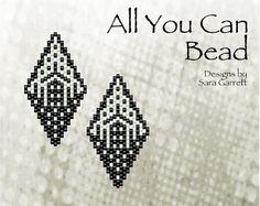 Peyote Earrings Pattern 133 Bead Weaving INSTANT DOWNLOAD PDF Odd Count