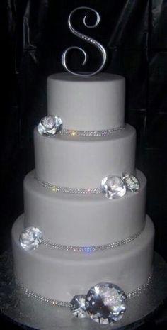 Blinged out wedding cake!