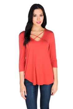Create a layered outfit perfect for the fall weather by styling this Criss Cross Sleeve Top with an open cardigan and bootcut jeans. Canadian Clothing, Layering Outfits, Open Cardigan, Criss Cross, Tunic Tops, Sleeve, Clothes, Women, Style