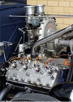 Extremely Rare Frenzel Supercharger on a Ford Flat Head V8