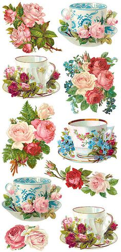 This video is about the transformation of my dining table by using decoupage. This decoupage diy video has step by step directions and tips that I've figured Decoupage Vintage, Vintage Diy, Vintage Pictures, Vintage Images, Images Victoriennes, Scrapbooking, All Paper, Vintage Flowers, Vintage Teacups