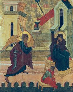 Icon depicting the Annunciation.