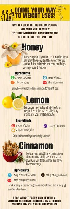 Drink Your way to weight loss! This drink with honey, lemon and cinnamon can help you get rid of 4 kg in a week! Try it!