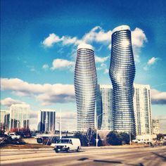 The Marylyn Monroe buildings. Square one, Mississauga
