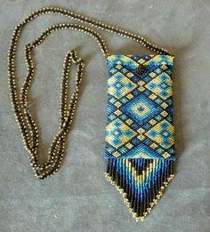 Seed Bead Amulet Bag/ Medicine Bag