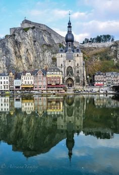 Dinant is a Walloon city and municipality located on the River Meuse in the Belgian province of Namur, Belgium. Cool Places To Visit, Places To Travel, Places Around The World, Around The Worlds, Visit Belgium, Beau Site, Ardennes, Voyage Europe, European Travel