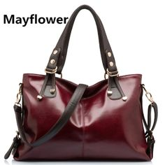 4bf8b36227d Hot sale female designer real leather handbags high quality oil wax leather bags  shoulder women messenger