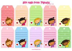 Pigtails: Gift tags | Pigtails by Jazmin Cruz