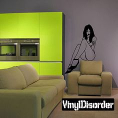 Sexy Girl Wall Decal - Vinyl Decal - Car Decal - CF12453