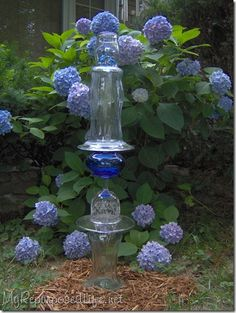 Marvelous Glass Totem Tutorial. Garden TotemsGlass GardenOutdoor ProjectsGarden  ProjectsArt ...