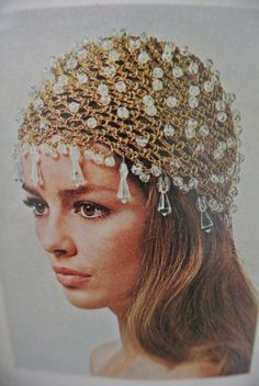 I'm loving this #crochet beaded hat that was featured in a 1972 issue of McCalls magazine