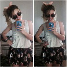 #moda #gabbiadorata #blogger #bunny #flowers gabbiadorata.com