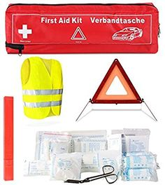 FEMOR Erste Hilfe Set 41PCS Auto Notfall Kit, Medizinische Tasche Reise Notfall Tasche First Aid Kit: Amazon.de: Drogerie & Körperpflege