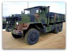 AM General M923 5 Ton Cargo Truck, 6x6 with 14' Dropside Cargo Body- on Government Liquidation