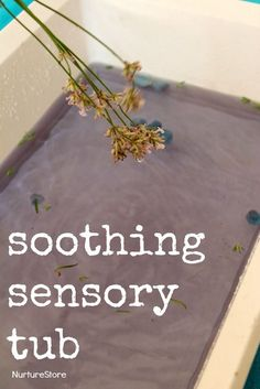 soothing sensory tub with lavender :: keeping kids cool, or for a bedtime routine