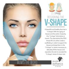 """Restoring the V-Shape A beautiful and healthy face has a """"V-shape"""". With the aging of tissues and the action of gravity, this """"V-shape"""" diminishes or inverts. The idea behind the PDO thread lift is to either create a scaffolding in order to support the tissues and keep them in the """"V-shape"""" or where necessary to delicately lift the tissues and reposition the skin to recreate the """"V-shape"""" where it's been lost @DrMarkOpperman #Aesthetics #Beauty #VShape"""