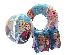Disney Princess Girls Pink Swimming Armbands Swimming Aid Inflatable 3-6 years