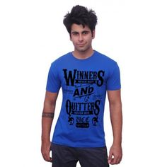 """""""Get Design Personalized t-shirts of Unisopent Designs Winners Quitters  Fabric Fashion T-shirt buy from Dealsothon.com Stylish t-shirt, Graphic T shirts, Printed shirts, Dealsothon  Shop online - http://www.dealsothon.com/fashion-and-accessories/Men/Men-T-shirts/Unisopent-Fabric-Fashion-T-shirt"""
