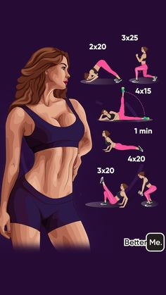 Have Slimmer Body with Challenge Workout Simple rules for your body to get slimmer! Fitness Workouts, Gym Workout Videos, Fitness Workout For Women, Sport Fitness, Butt Workout, Easy Workouts, Yoga Fitness, Health Fitness, Morning Ab Workouts