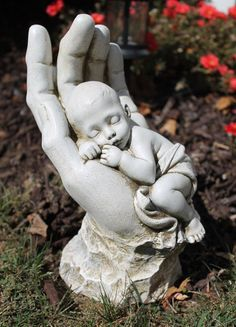 Ajay's Emporium - In God's Hands Miscarriage Baby Memorial Garden Statue, $42.99 (http://www.ajaysemporium.com/in-gods-hands-miscarriage-baby-memorial-garden-statue/)