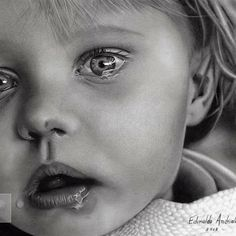 baby crying pencil drawing by edinaldo Art by Edinaldo Andrioli Cool Pencil Drawings, Amazing Drawings, Pencil Art, Drawing Sketches, Amazing Art, Art Drawings, Drawing Portraits, Sketching, Hyper Realistic Paintings