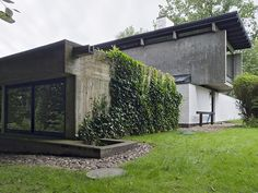 The newly restored 1958 home of architect Knud Friis of Friis & Moltke. Brabrand #Aarhus #Denmark