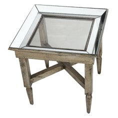 A&B Home Jordan Mirrored Side Table