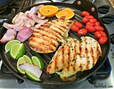 Mojo Chicken Breast with Grilled Citrus #justeatrealfood #thefitfork